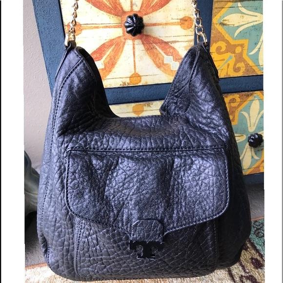 47fb7d0d0db0 Tory Burch Lambskin Sammy Hobo Handbag Black Purse.  M 5b969518819e90464b6208d9